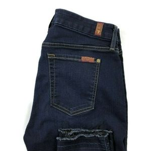 7 For All Mankind B Air The Ankle Skinny Dark Wash